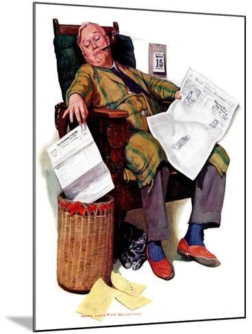 """Tax Deadline,""March 19, 1938-John Newton Howitt-Mounted Giclee Print"