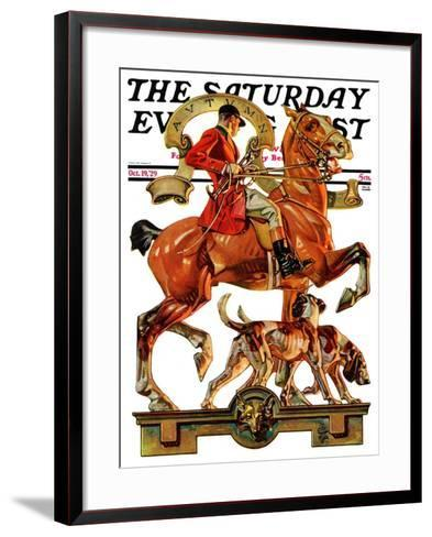"""Fall Foxhunting,"" Saturday Evening Post Cover, October 19, 1929-Joseph Christian Leyendecker-Framed Art Print"