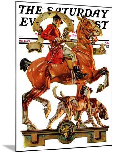 """Fall Foxhunting,"" Saturday Evening Post Cover, October 19, 1929-Joseph Christian Leyendecker-Mounted Giclee Print"