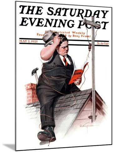 """Radio Antennae,"" Saturday Evening Post Cover, May 2, 1925-Robert C^ Kauffmann-Mounted Giclee Print"