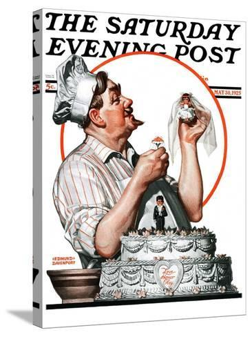 """""""Wedding Cake,"""" Saturday Evening Post Cover, May 30, 1925-Edmund Davenport-Stretched Canvas Print"""