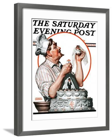 """Wedding Cake,"" Saturday Evening Post Cover, May 30, 1925-Edmund Davenport-Framed Art Print"