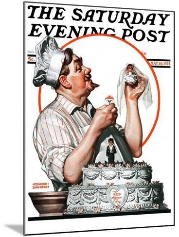 """""""Wedding Cake,"""" Saturday Evening Post Cover, May 30, 1925-Edmund Davenport-Mounted Giclee Print"""