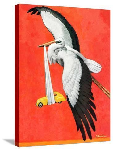 """New Born Automobile,""November 12, 1938-John E^ Sheridan-Stretched Canvas Print"