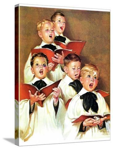 """Choir Boys Will Be Boys,""December 10, 1938-Frances Tipton Hunter-Stretched Canvas Print"