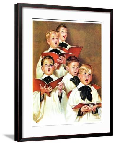 """Choir Boys Will Be Boys,""December 10, 1938-Frances Tipton Hunter-Framed Art Print"