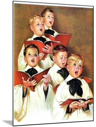 """Choir Boys Will Be Boys,""December 10, 1938-Frances Tipton Hunter-Mounted Giclee Print"