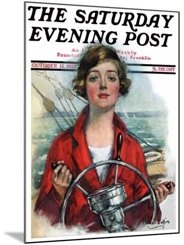 """""""Woman Sailor,"""" Saturday Evening Post Cover, October 15, 1927-William Haskell Coffin-Mounted Giclee Print"""
