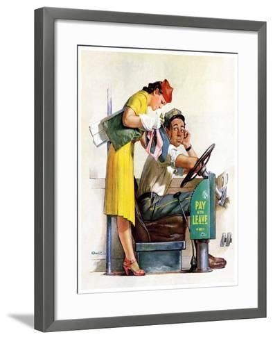 """""""Bus Fare,""""September 9, 1939-McCauley Conner-Framed Art Print"""