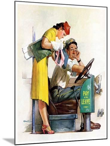 """""""Bus Fare,""""September 9, 1939-McCauley Conner-Mounted Giclee Print"""