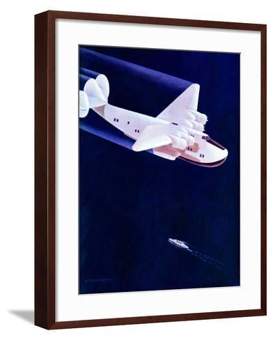 """""""Propeller Plane,""""December 2, 1939-H^ Wilson Smith-Framed Art Print"""