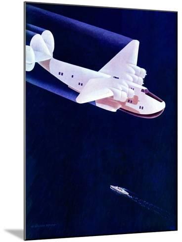 """Propeller Plane,""December 2, 1939-H^ Wilson Smith-Mounted Giclee Print"