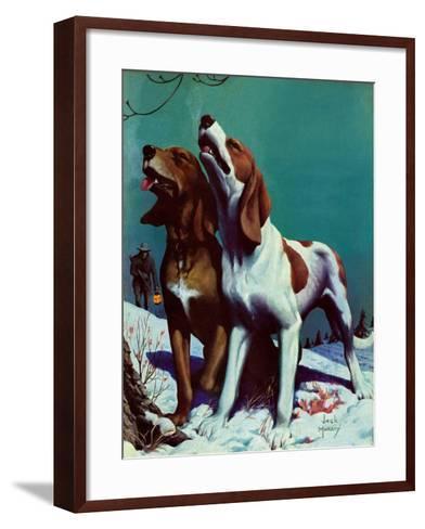 """Hound Dog,""December 9, 1939-Jack Murray-Framed Art Print"