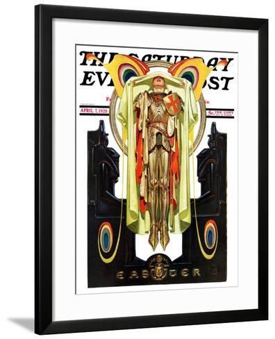"""Easter, 1928,"" Saturday Evening Post Cover, April 7, 1928-Joseph Christian Leyendecker-Framed Art Print"