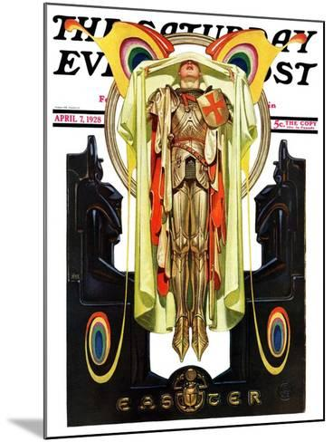 """""""Easter, 1928,"""" Saturday Evening Post Cover, April 7, 1928-Joseph Christian Leyendecker-Mounted Giclee Print"""