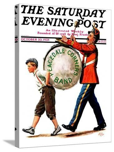 """Peacedale Corners Band,"" Saturday Evening Post Cover, October 20, 1928-Alan Foster-Stretched Canvas Print"