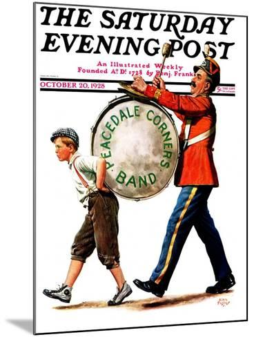 """Peacedale Corners Band,"" Saturday Evening Post Cover, October 20, 1928-Alan Foster-Mounted Giclee Print"