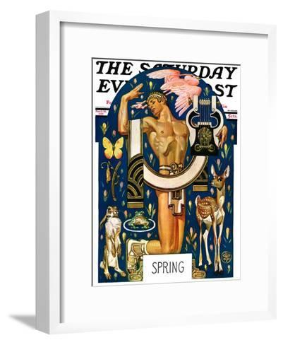 """Spring 1929,"" Saturday Evening Post Cover, March 30, 1929-Joseph Christian Leyendecker-Framed Art Print"