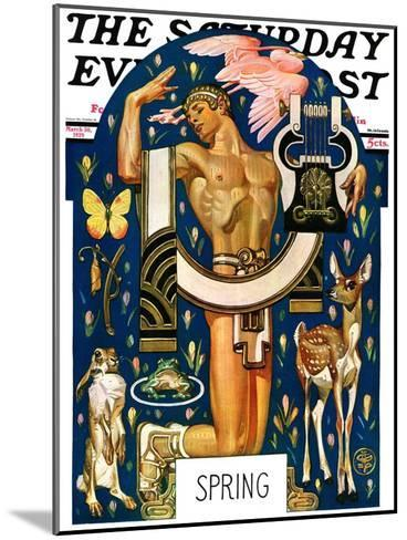 """""""Spring 1929,"""" Saturday Evening Post Cover, March 30, 1929-Joseph Christian Leyendecker-Mounted Giclee Print"""