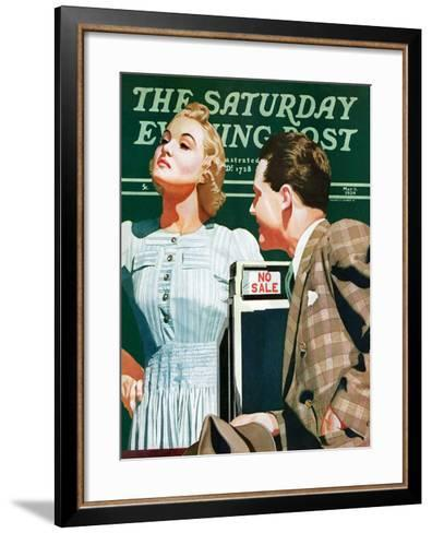 """""""'No Sale',"""" Saturday Evening Post Cover, May 6, 1939-John Hyde Phillips-Framed Art Print"""