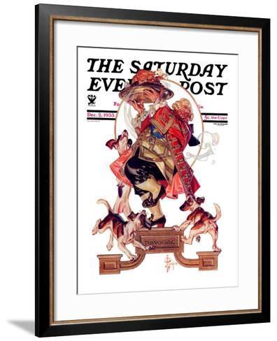 """""""Begging for Turkey,"""" Saturday Evening Post Cover, December 2, 1933-Joseph Christian Leyendecker-Framed Art Print"""