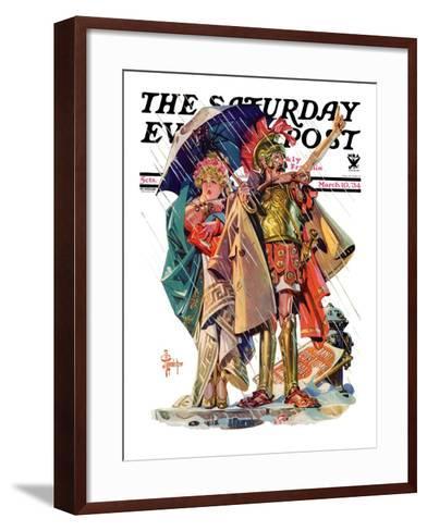 """Roman Costumes,"" Saturday Evening Post Cover, March 10, 1934-Joseph Christian Leyendecker-Framed Art Print"