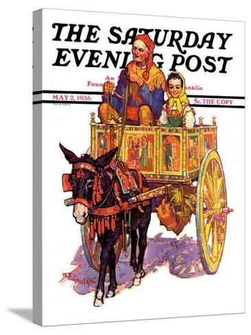 """Gypsy Wagon,"" Saturday Evening Post Cover, May 2, 1936-Henry Soulen-Stretched Canvas Print"