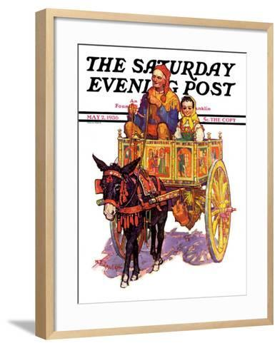 """Gypsy Wagon,"" Saturday Evening Post Cover, May 2, 1936-Henry Soulen-Framed Art Print"