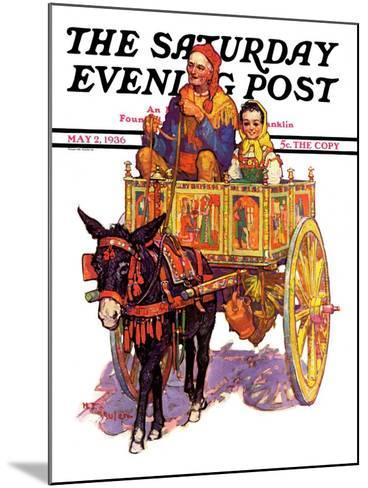 """Gypsy Wagon,"" Saturday Evening Post Cover, May 2, 1936-Henry Soulen-Mounted Giclee Print"