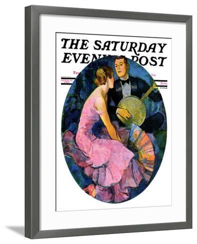 """""""Banjo Serenade,"""" Saturday Evening Post Cover, April 11, 1931-John LaGatta-Framed Art Print"""