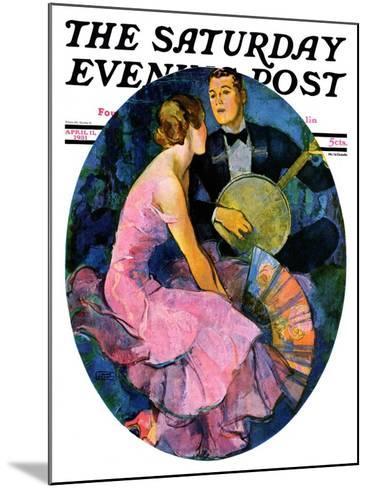 """Banjo Serenade,"" Saturday Evening Post Cover, April 11, 1931-John LaGatta-Mounted Giclee Print"