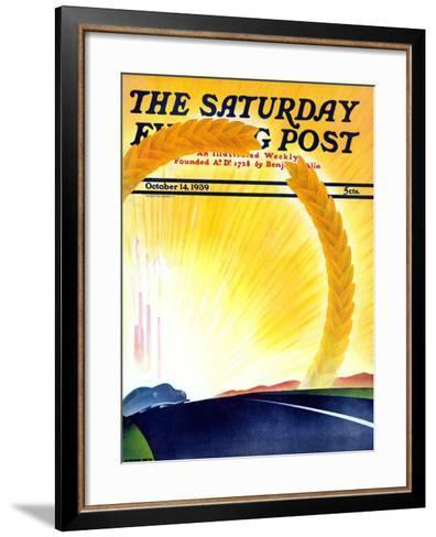 """Golden City,"" Saturday Evening Post Cover, October 14, 1939-H^ Wilson Smith-Framed Art Print"