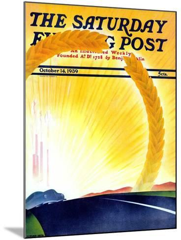 """""""Golden City,"""" Saturday Evening Post Cover, October 14, 1939-H^ Wilson Smith-Mounted Giclee Print"""