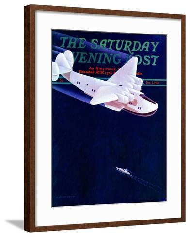 """Propeller Plane,"" Saturday Evening Post Cover, December 2, 1939-H. Wilson Smith-Framed Art Print"
