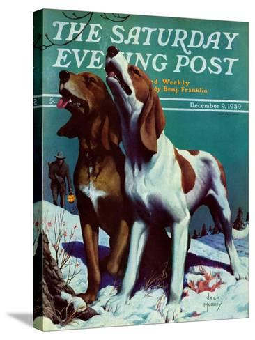 """Hound Dog,"" Saturday Evening Post Cover, December 9, 1939-Jack Murray-Stretched Canvas Print"