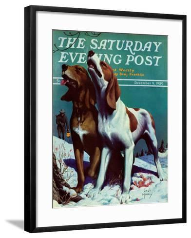 """Hound Dog,"" Saturday Evening Post Cover, December 9, 1939-Jack Murray-Framed Art Print"