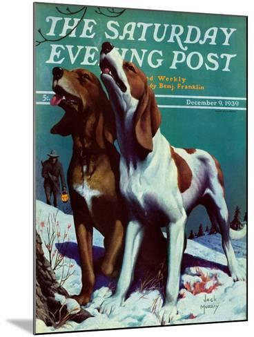 """Hound Dog,"" Saturday Evening Post Cover, December 9, 1939-Jack Murray-Mounted Giclee Print"