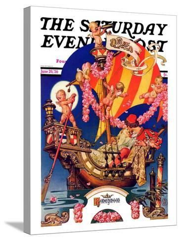 """Fantasy Honeymoon,"" Saturday Evening Post Cover, June 20, 1936-Joseph Christian Leyendecker-Stretched Canvas Print"