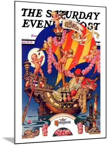 """Fantasy Honeymoon,"" Saturday Evening Post Cover, June 20, 1936-Joseph Christian Leyendecker-Mounted Giclee Print"