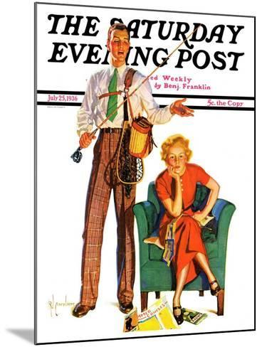 """""""Whose Vacation?,"""" Saturday Evening Post Cover, July 25, 1936-R^J^ Cavaliere-Mounted Giclee Print"""