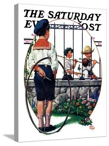 """""""The Other Half, One,"""" Saturday Evening Post Cover, September 19, 1931-Alan Foster-Stretched Canvas Print"""