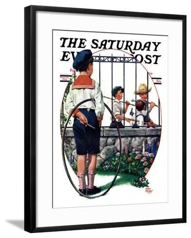 """""""The Other Half, One,"""" Saturday Evening Post Cover, September 19, 1931-Alan Foster-Framed Art Print"""
