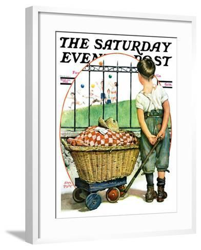 """""""Other Half, Two,"""" Saturday Evening Post Cover, September 26, 1931-Alan Foster-Framed Art Print"""