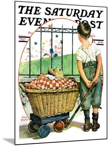 """""""Other Half, Two,"""" Saturday Evening Post Cover, September 26, 1931-Alan Foster-Mounted Giclee Print"""
