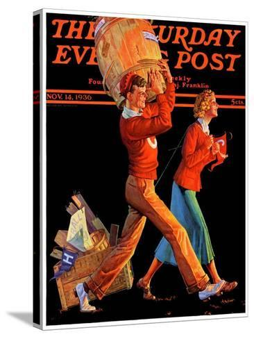 """""""After the Game,"""" Saturday Evening Post Cover, November 14, 1936-Monte Crews-Stretched Canvas Print"""