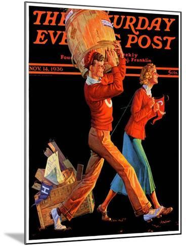 """""""After the Game,"""" Saturday Evening Post Cover, November 14, 1936-Monte Crews-Mounted Giclee Print"""