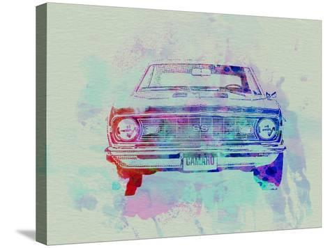 Chevy Camaro Watercolor 2-NaxArt-Stretched Canvas Print