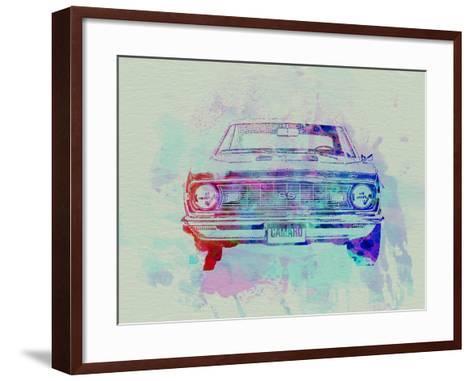 Chevy Camaro Watercolor 2-NaxArt-Framed Art Print