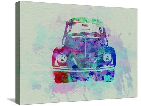 VW Beetle Watercolor 2-NaxArt-Stretched Canvas Print