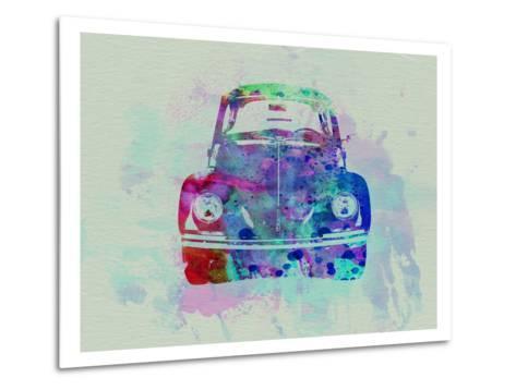 VW Beetle Watercolor 2-NaxArt-Metal Print